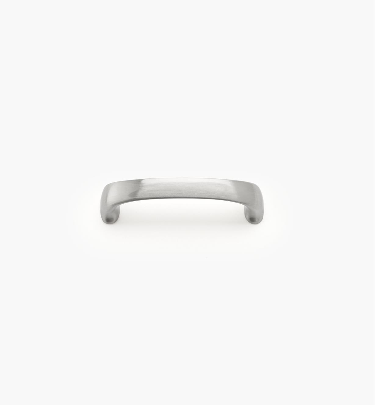 02A4313 - Poignée moderne arrondie, fini nickel satiné, 3 po