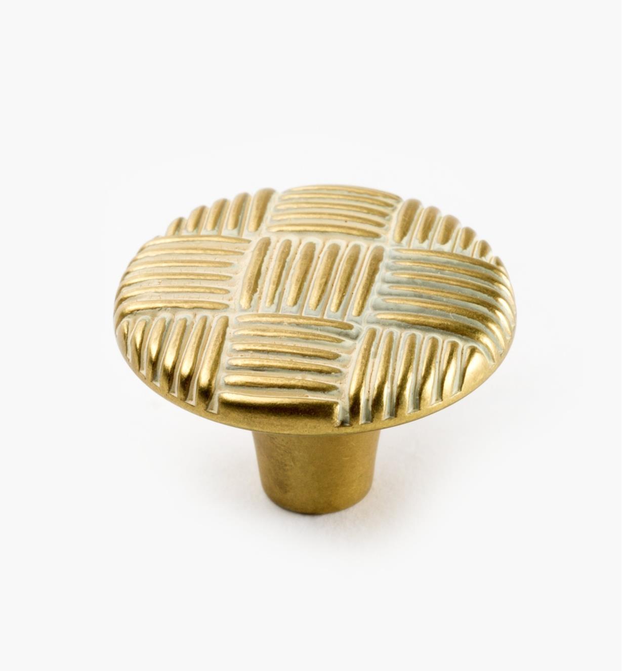 "03W1649 - Belwith Tapestry 1 1/4"" x 7/8"" Gilded Bronze Round Knob, each"