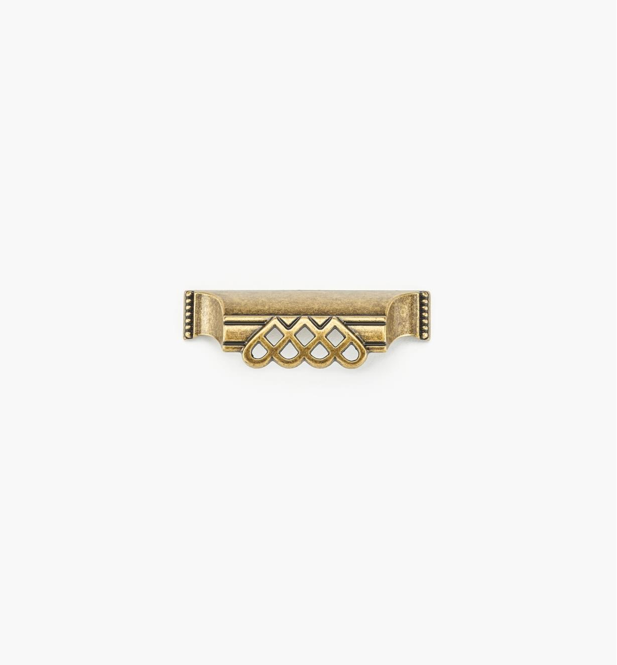 "01A3019 - 3 15/16"" (64mm) Lattice and Bead Cup Pull"