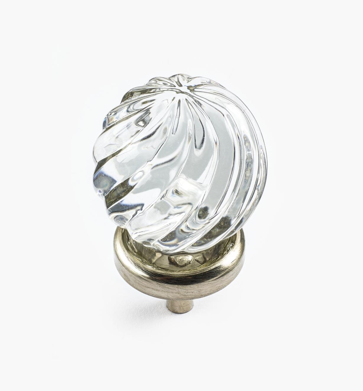 01A3812 - Glass Twist Knob, Clear