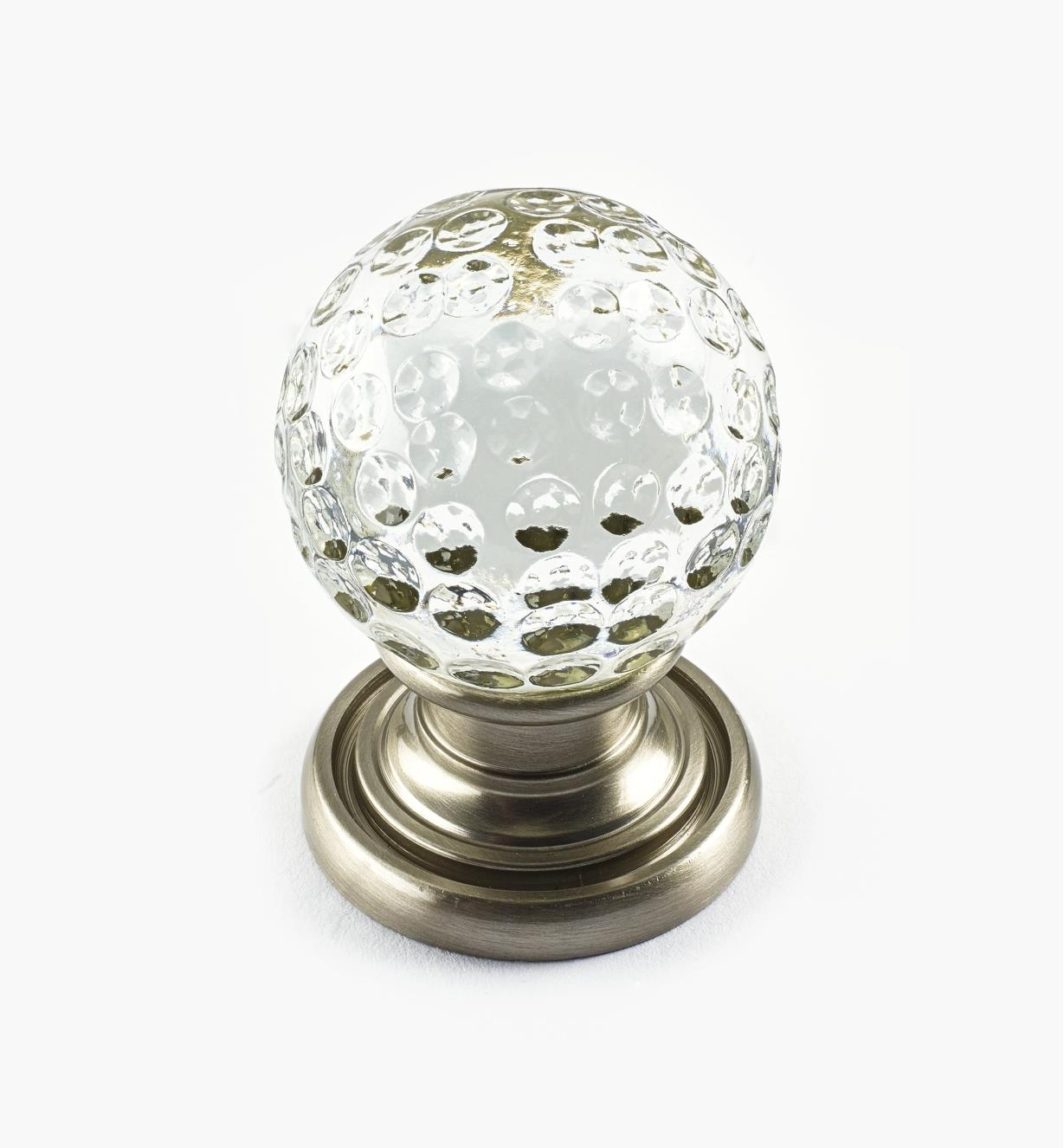 01A3835 - Dimpled Glass Globe Knob, 29mm