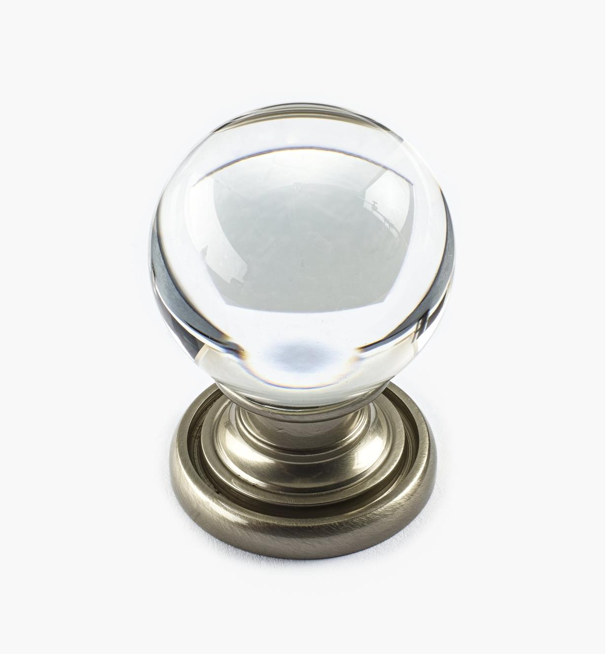 01A3837 - Smooth Glass Globe Knob, 29mm