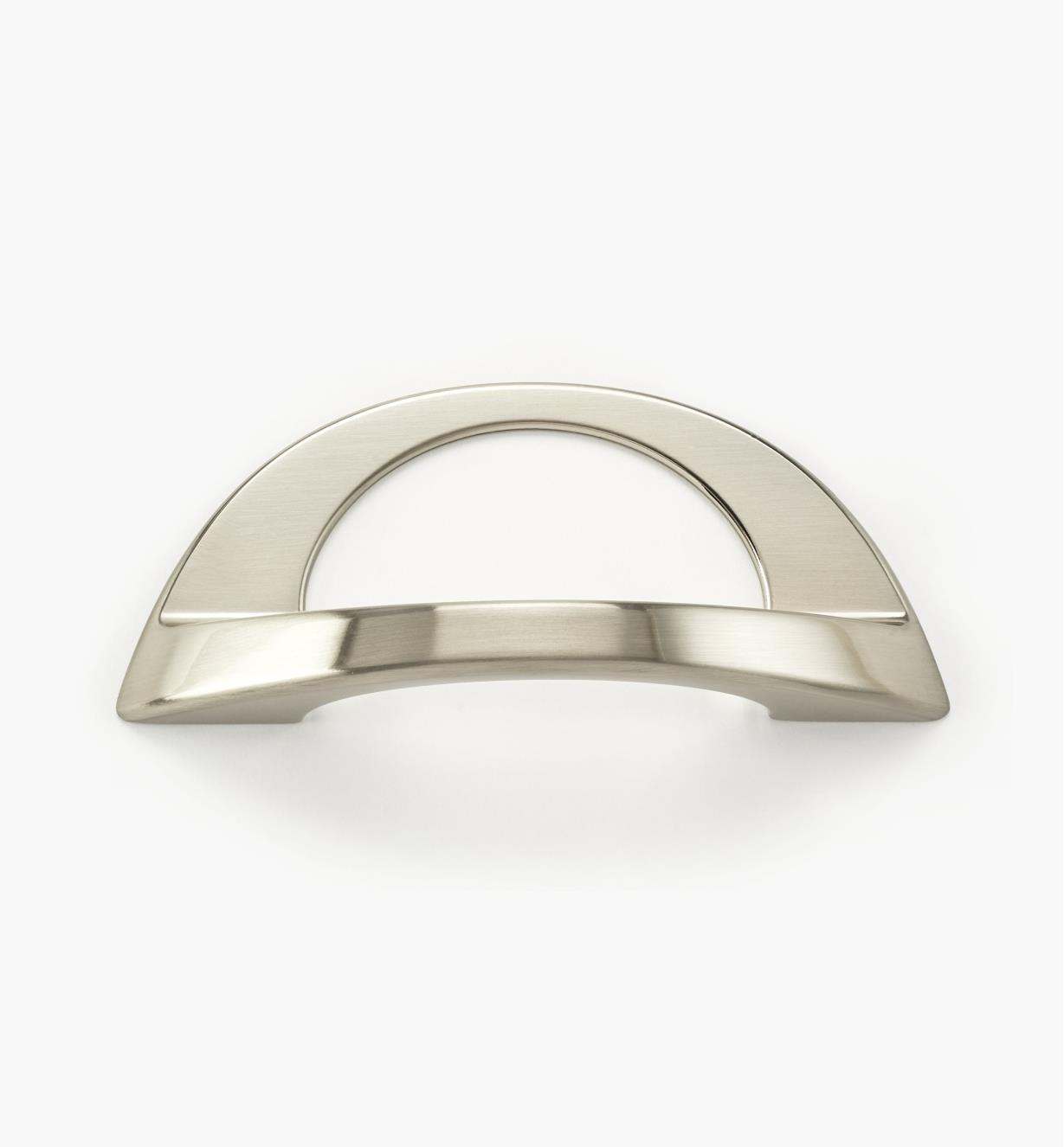 01W0872 - Poignée Polo, fini nickel brossé, 128 mm × 43 mm