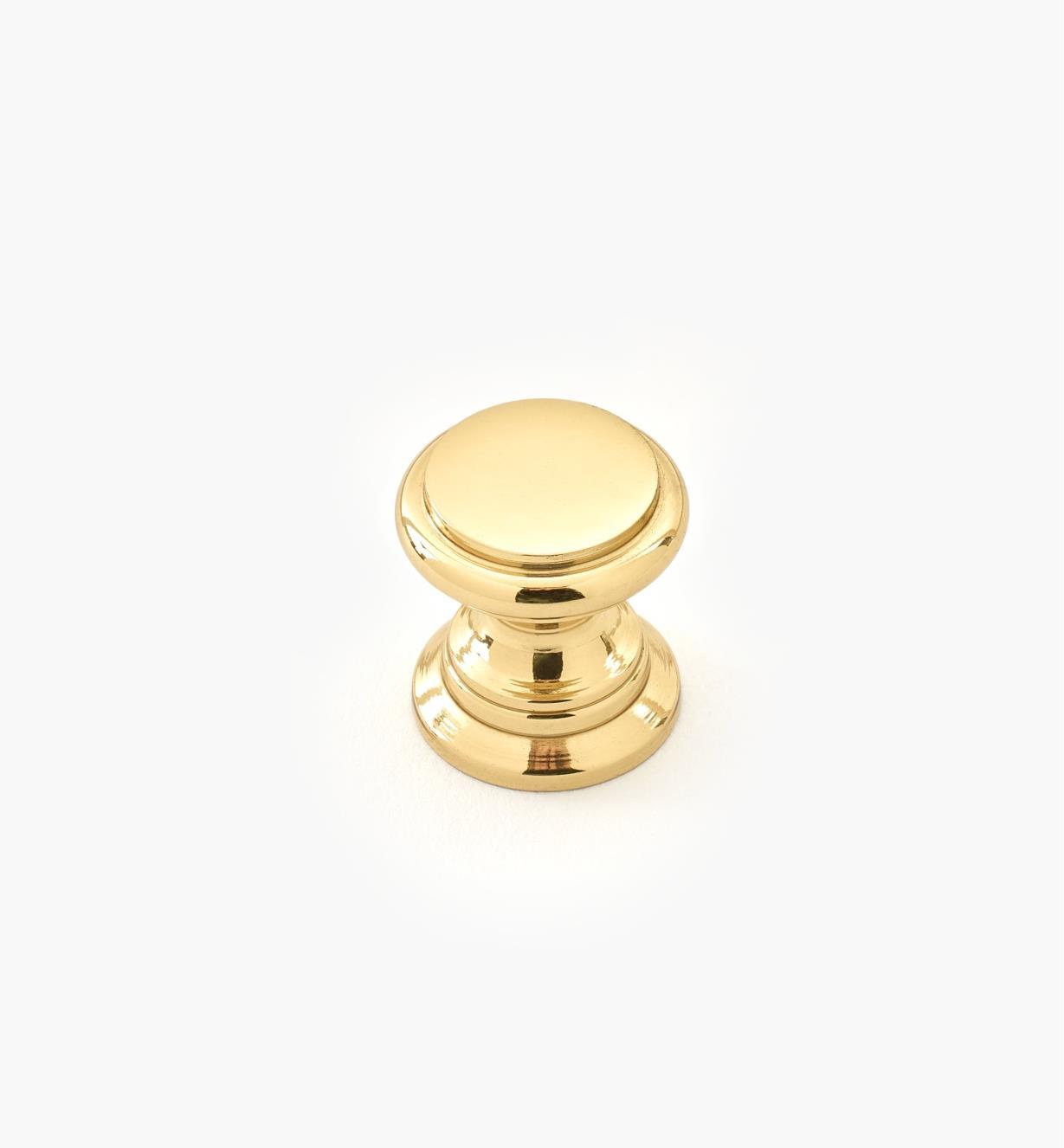 """00W3413 - 1/2"""" x 1/2"""" Small Brass Knob"""