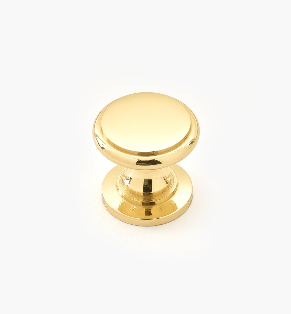 """00W3417 - 11/16"""" x 5/8"""" Small Brass Knob"""
