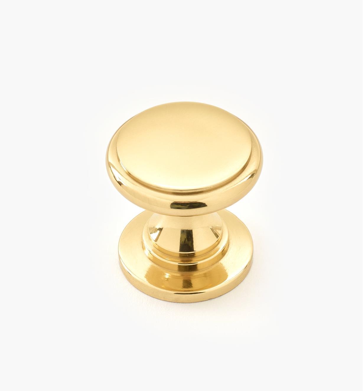 """00W3420 - 3/4"""" x 3/4"""" Small Brass Knob"""