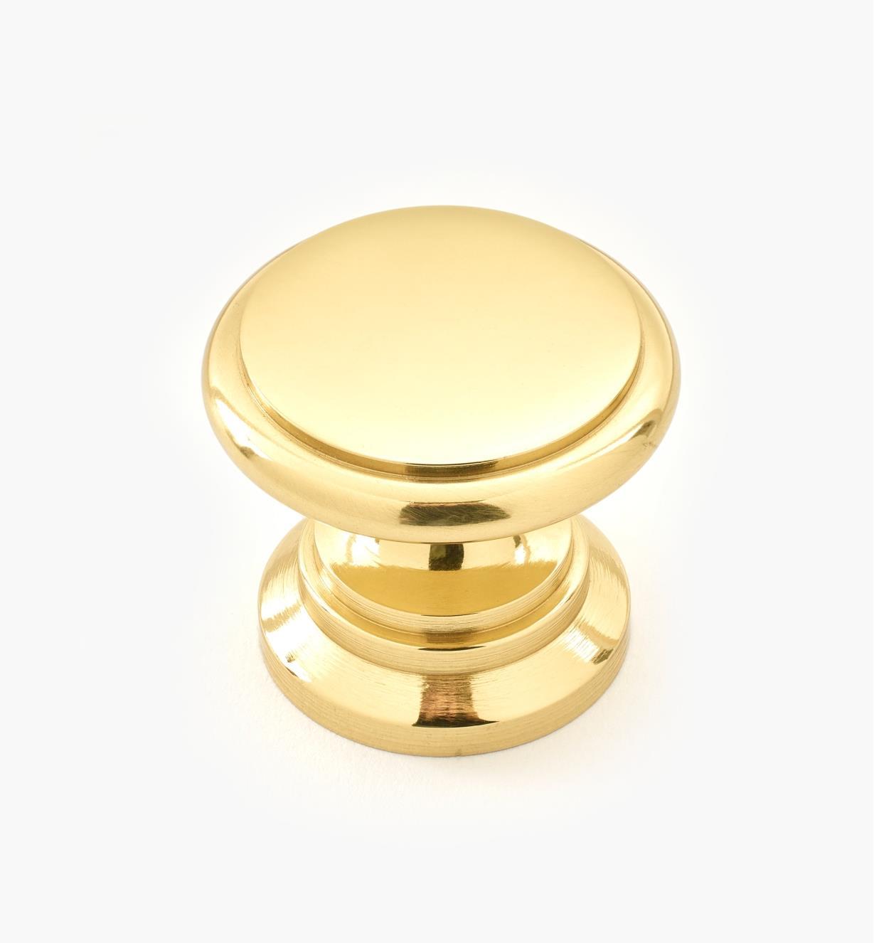 00W3425 - Petit bouton en laiton II, 1 po x 13/16 po