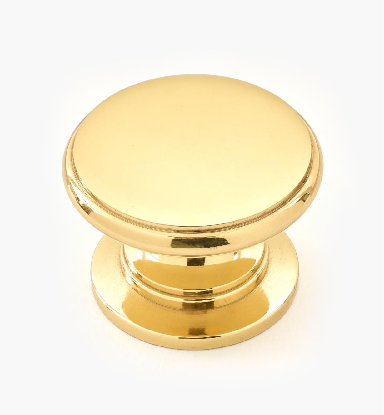 """00W3432 - 1 1/4"""" x 15/16"""" Small Brass Knob"""