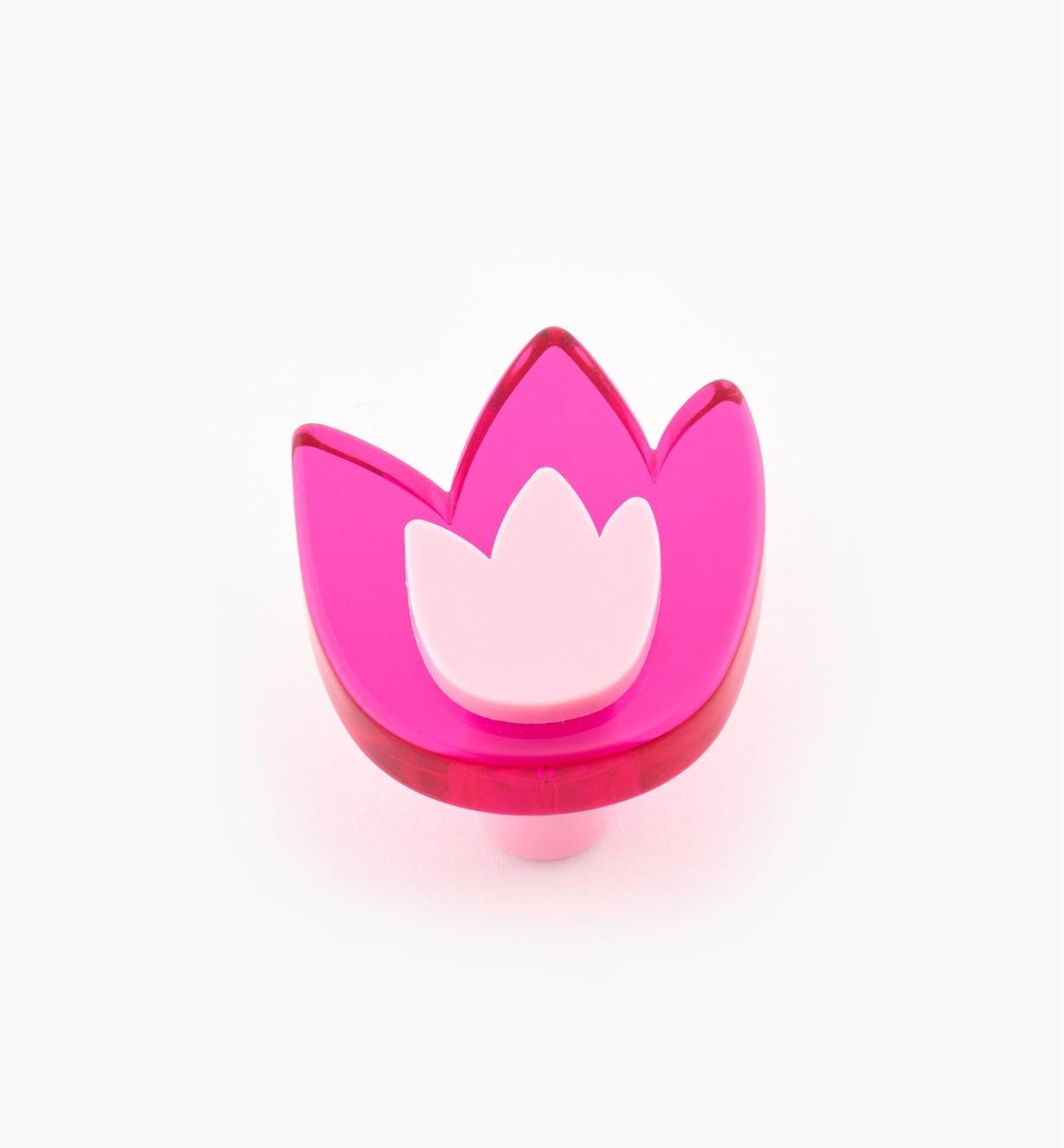 01W0572 - Tulip Knob, Fuchsia