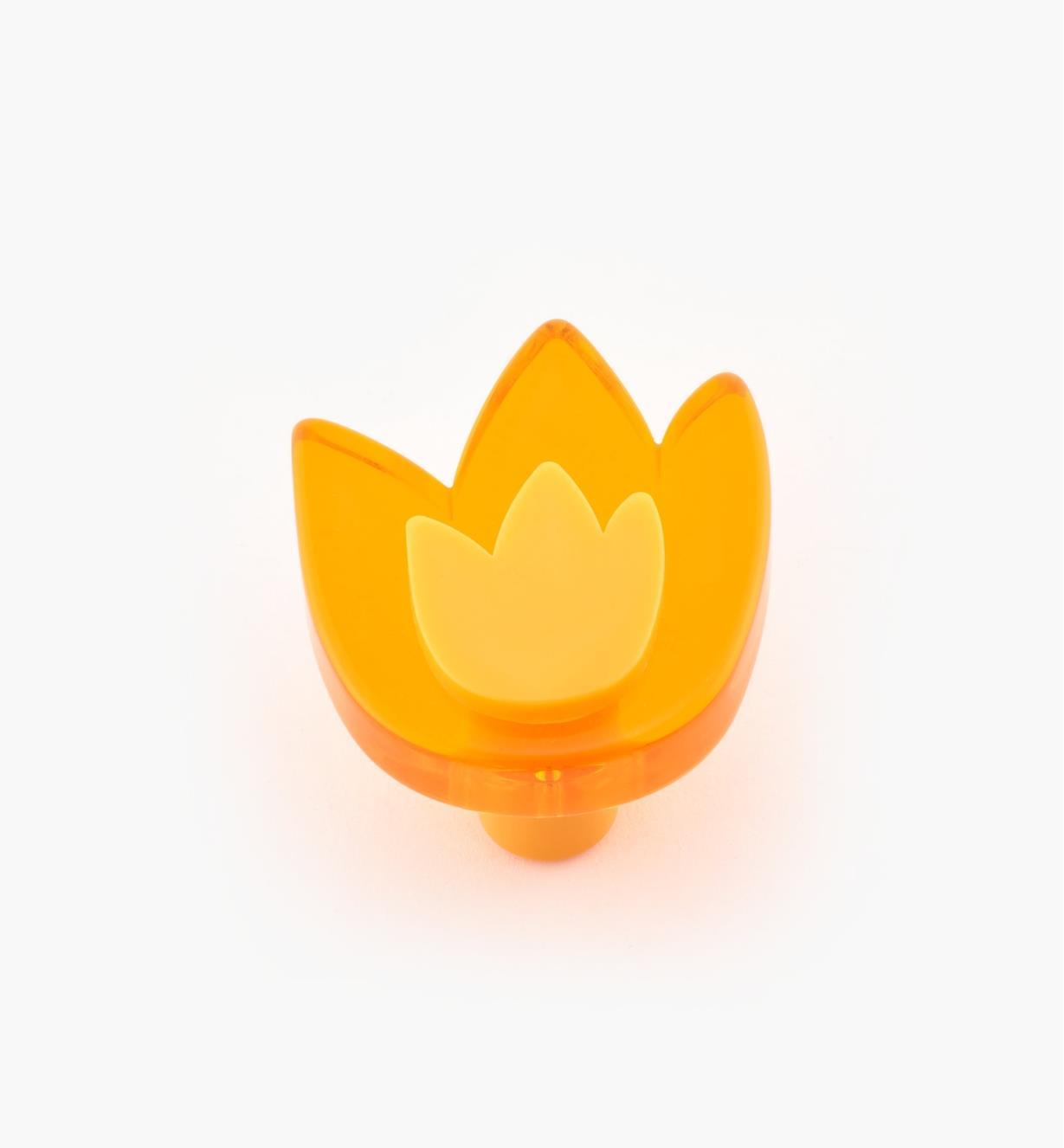 01W0573 - Tulip Knob, Orange