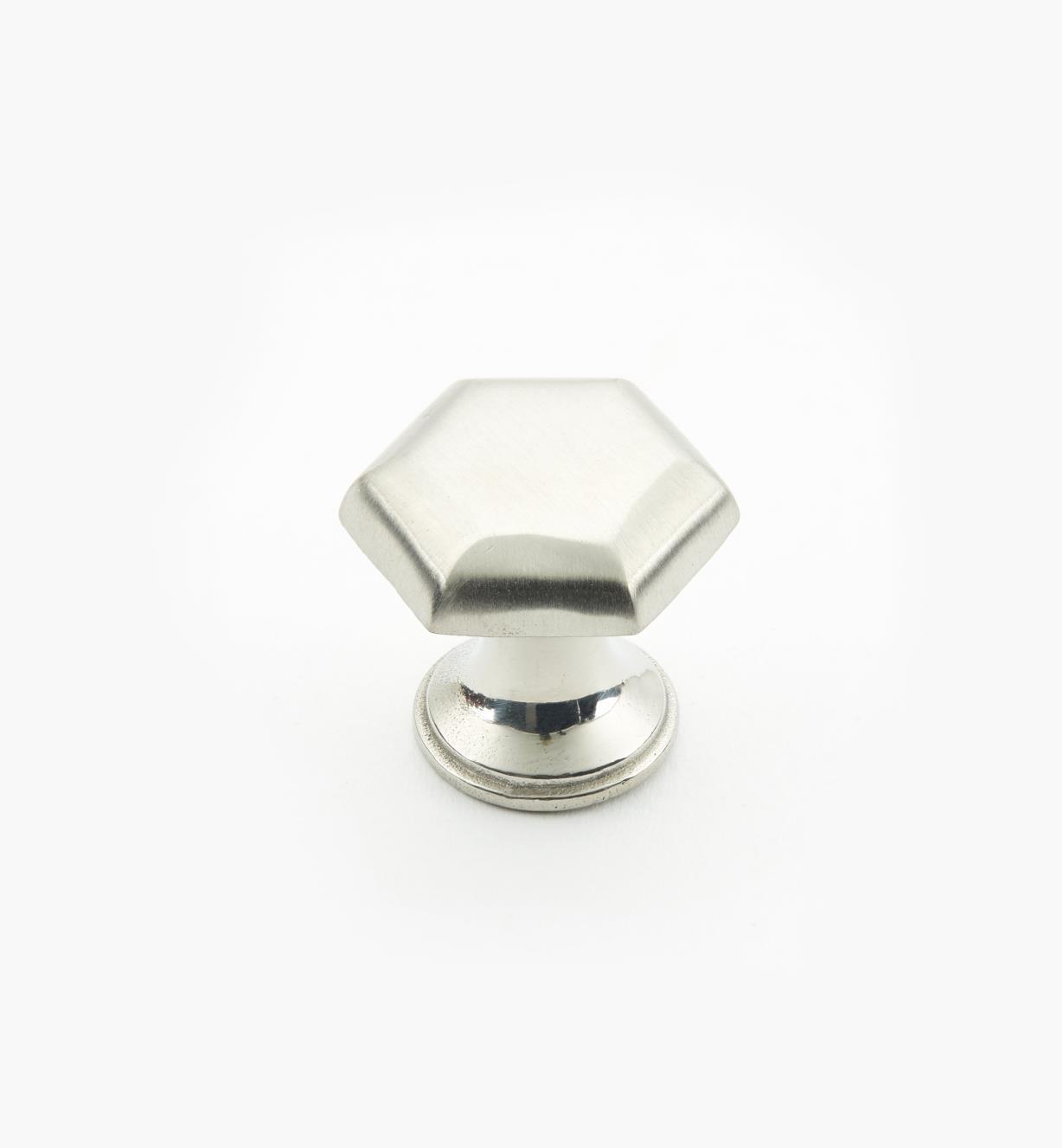 01W8290 - Bouton hexagonal en acier inoxydable, 1pox7/8po