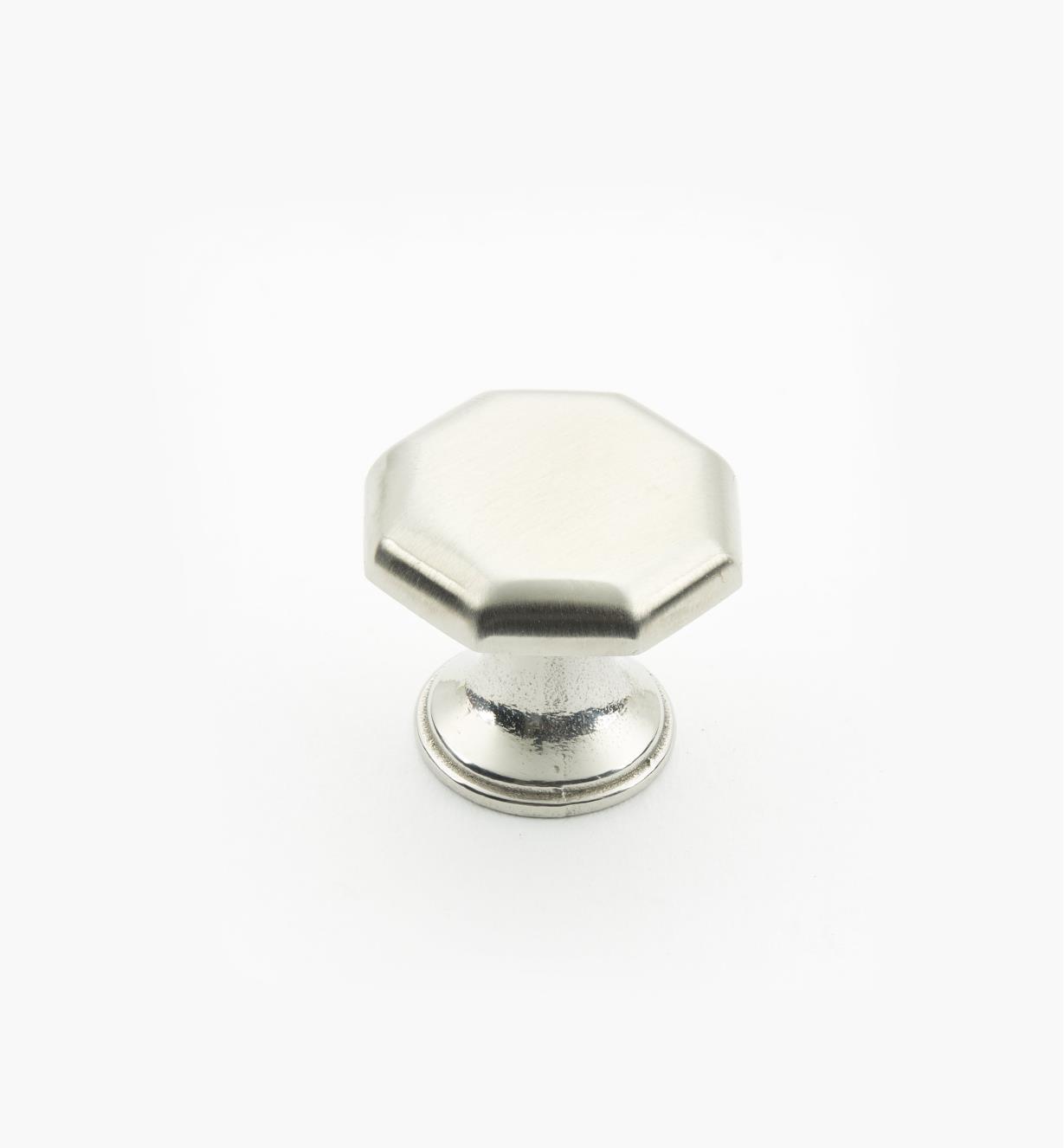 01W8291 - Bouton octogonal en acier inoxydable, 1pox7/8po