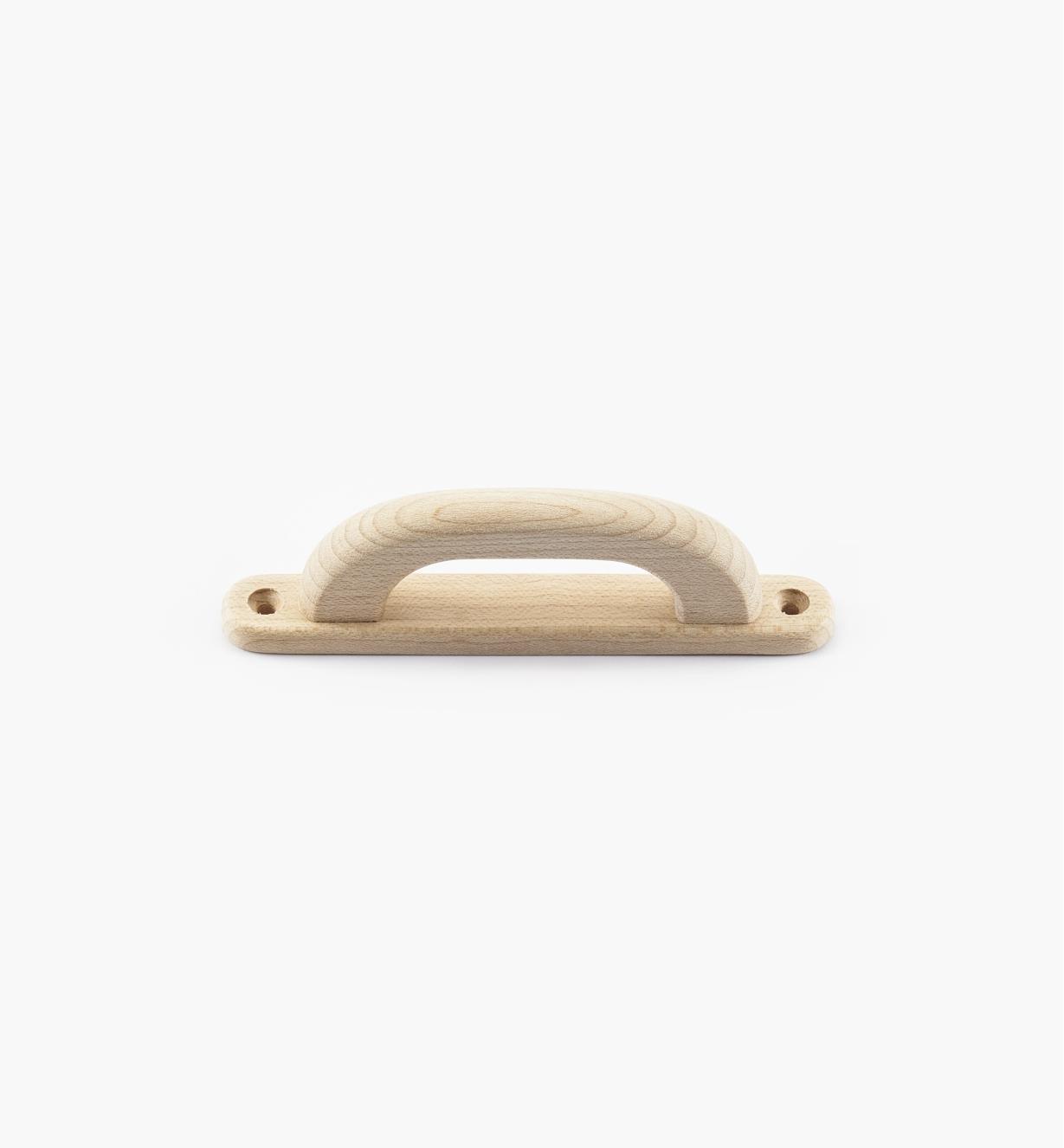 02B0412 - Poignée sur platine en érable, 4 po (86 mm)