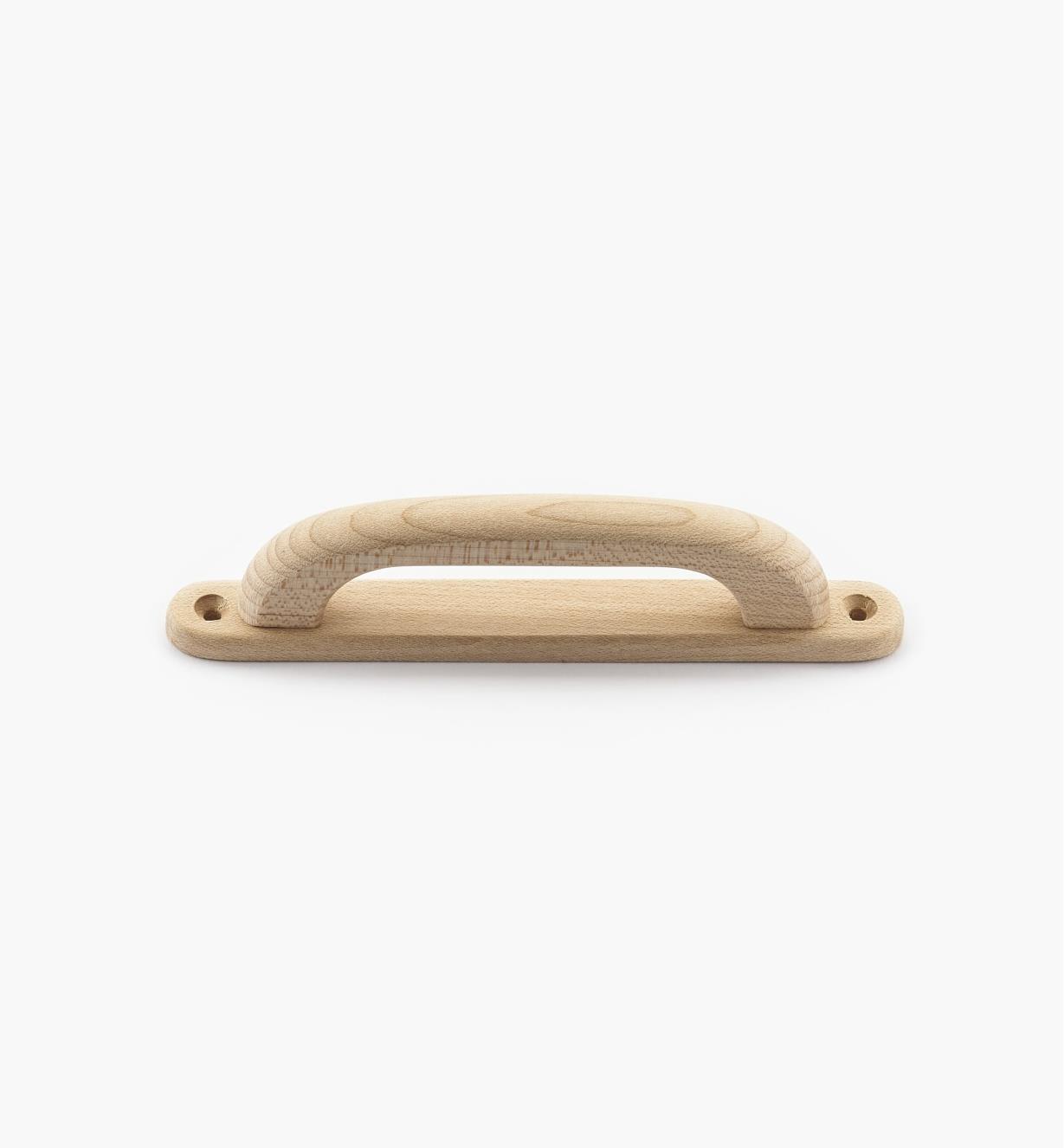 02B0422 - Poignée sur platine en érable, 4 3/4 po (106 mm)