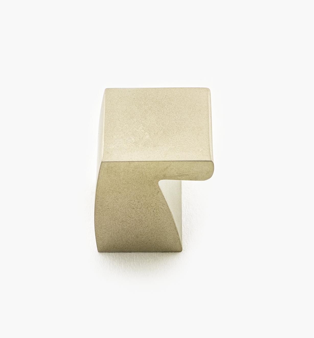 02W3470 - Bouton à entaille de 21mm, fini nickel mat