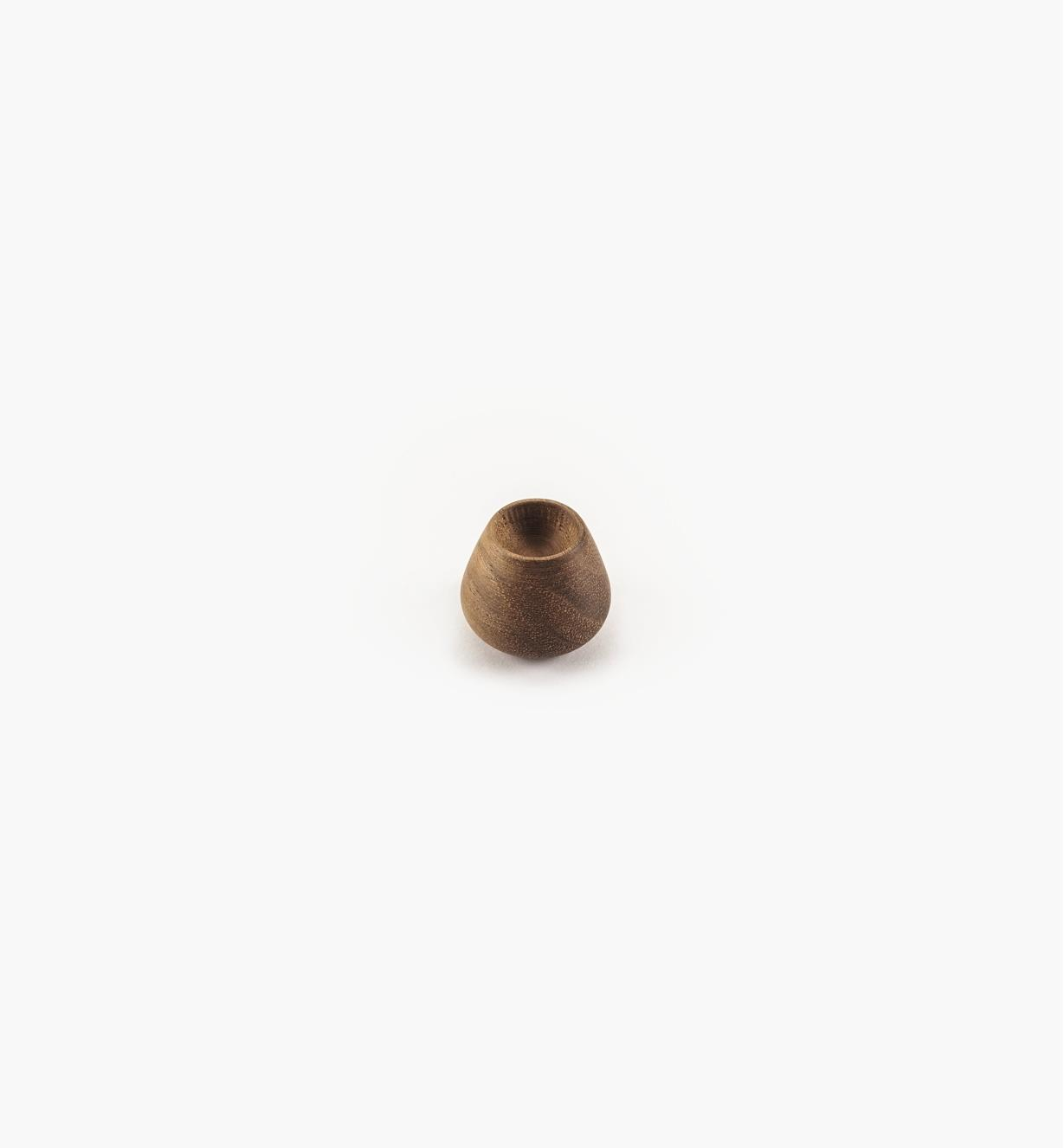 02G2022 - 24mm x 20mm Flowerbud Danish Walnut Knob