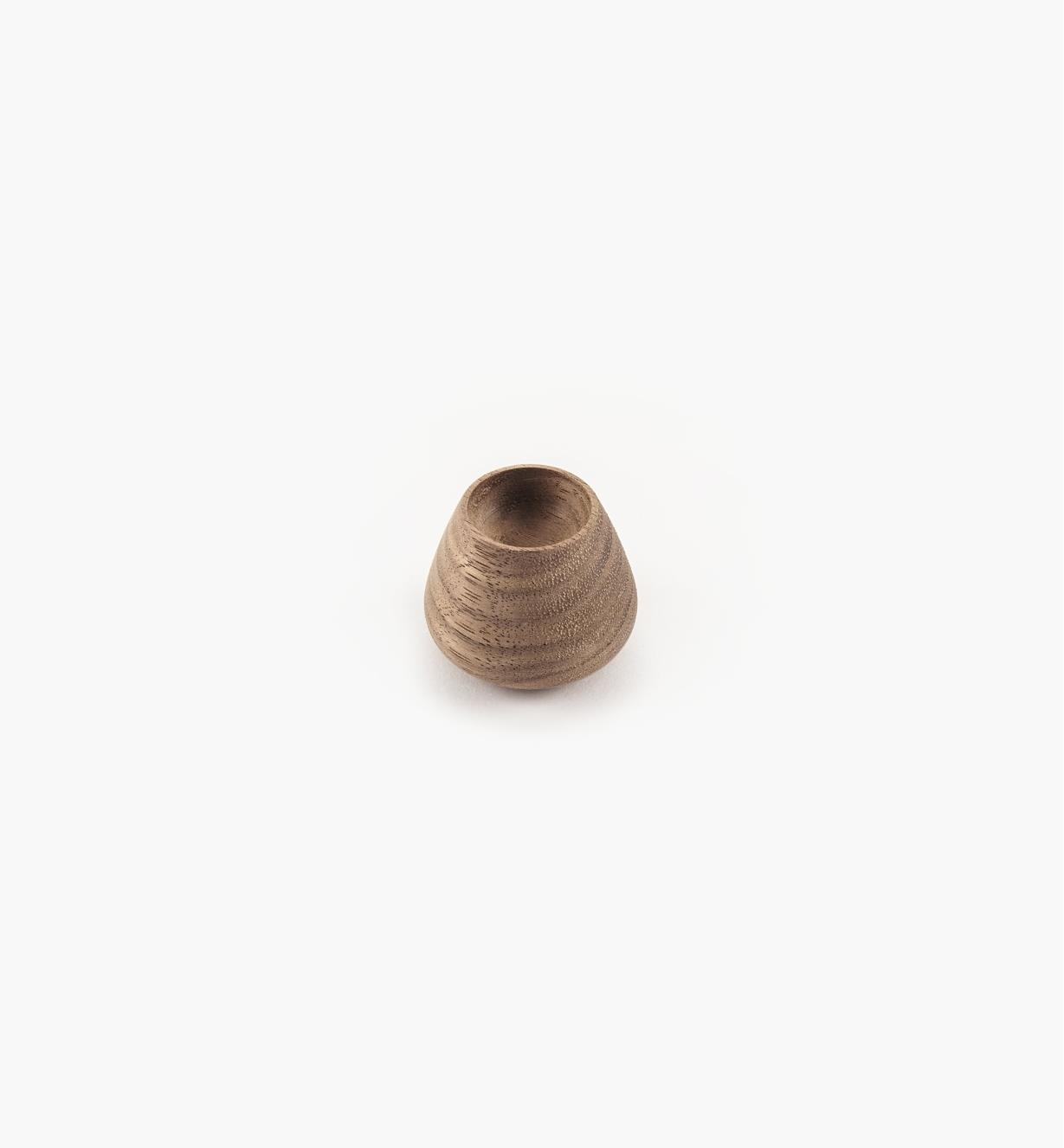 02G2023 - 34mm x 29mm Flowerbud Danish Walnut Knob