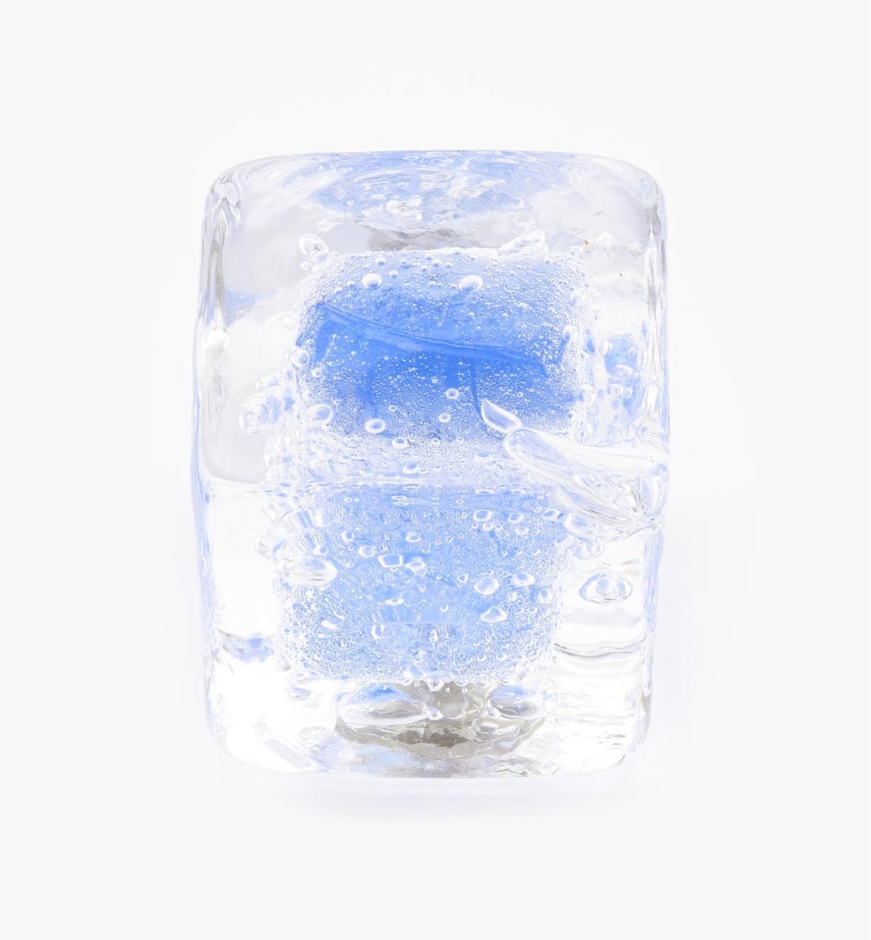 00A7703 - Bouton en verre de Murano Venezia, cobalt, 1 po