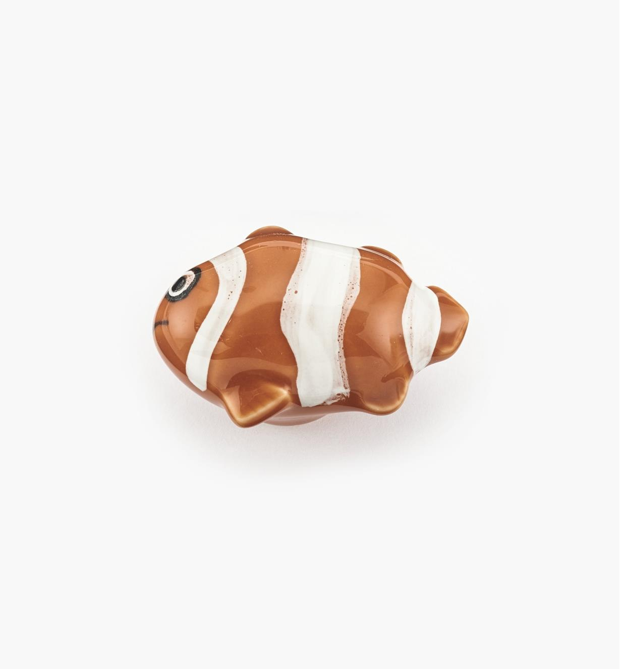 "00W5320 - 2"" x 1 1/2"" Clownfish Ceramic Knob, each"