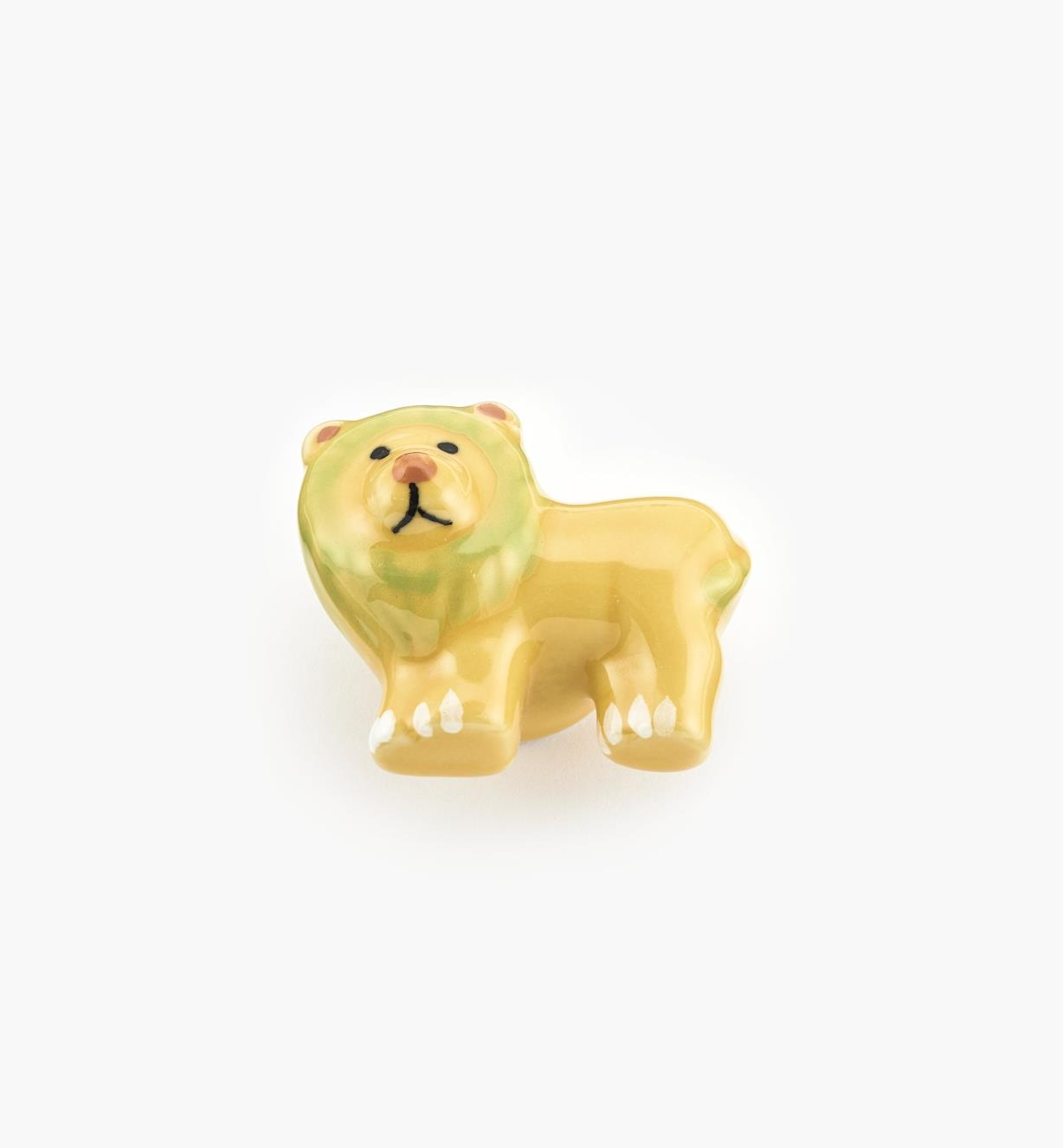 "00W5326 - 1 7/8"" x 1 1/2"" Lion Ceramic Knob, each"