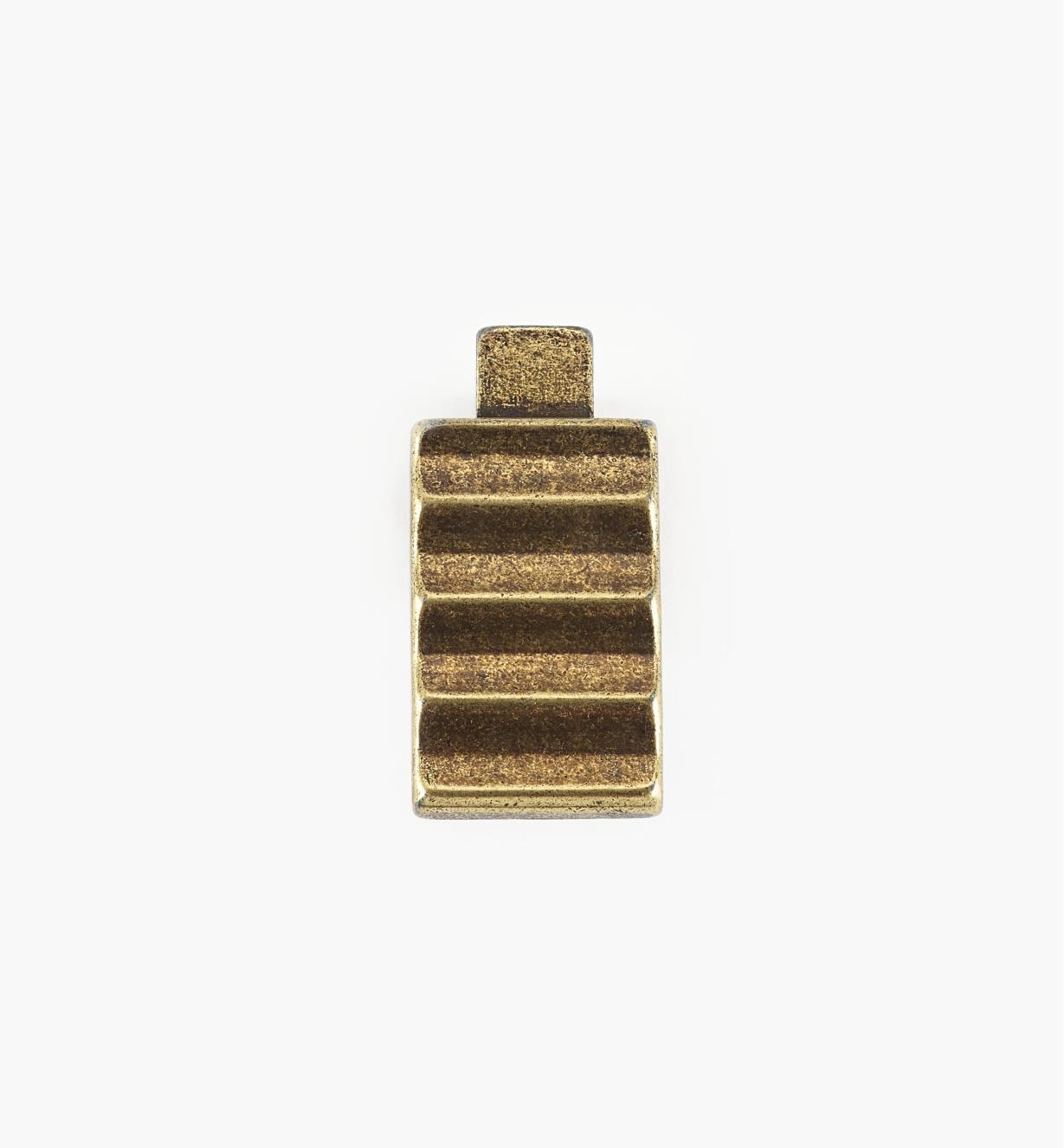 01G1861 - Bouton Passerelle rustique, fini laiton antique, 33 mm x 16 mm