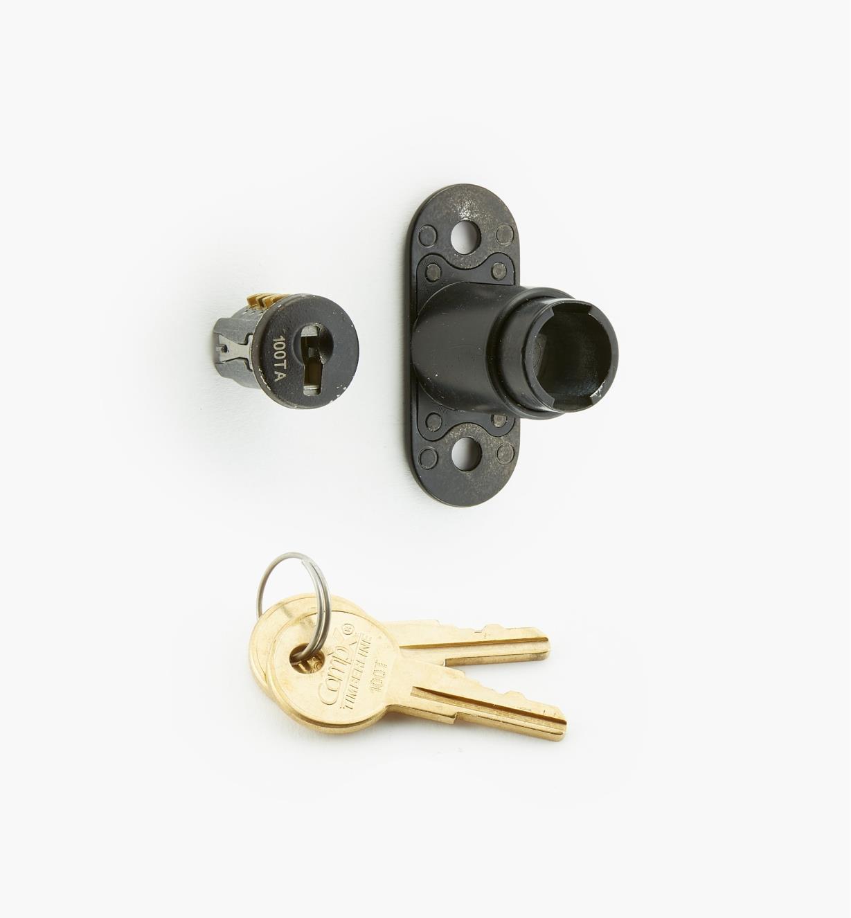 00F0631 - Sliding-Door Push Lock, Black