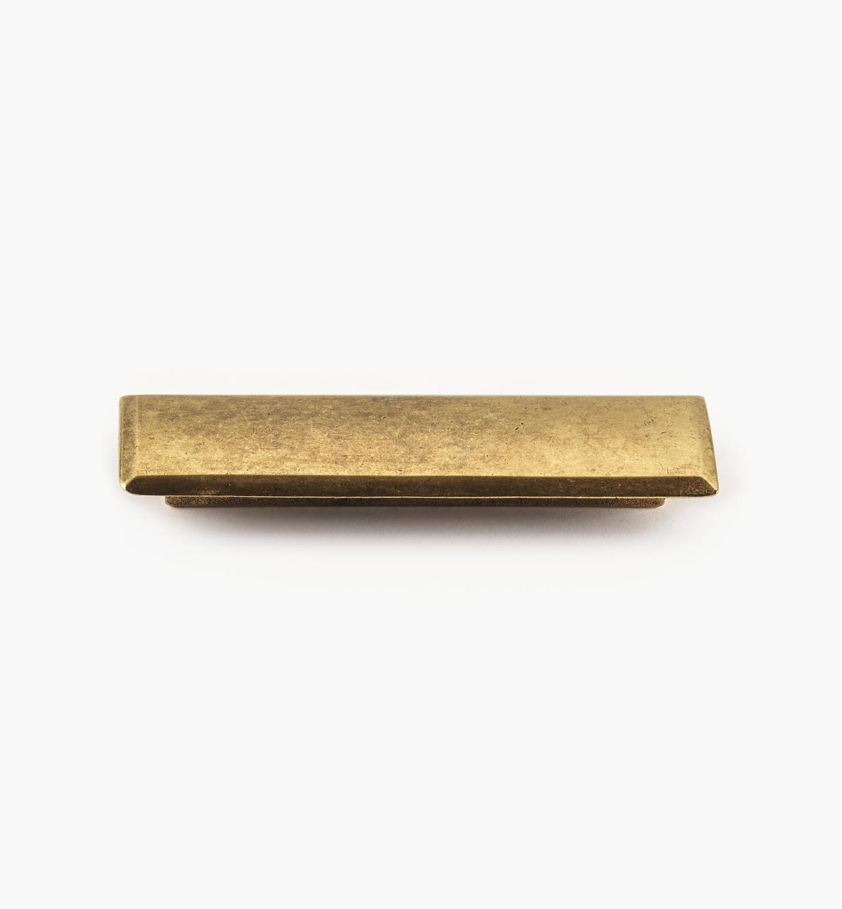01G1903 - 96mm x 124mm Antique Brass Shield Pull, each