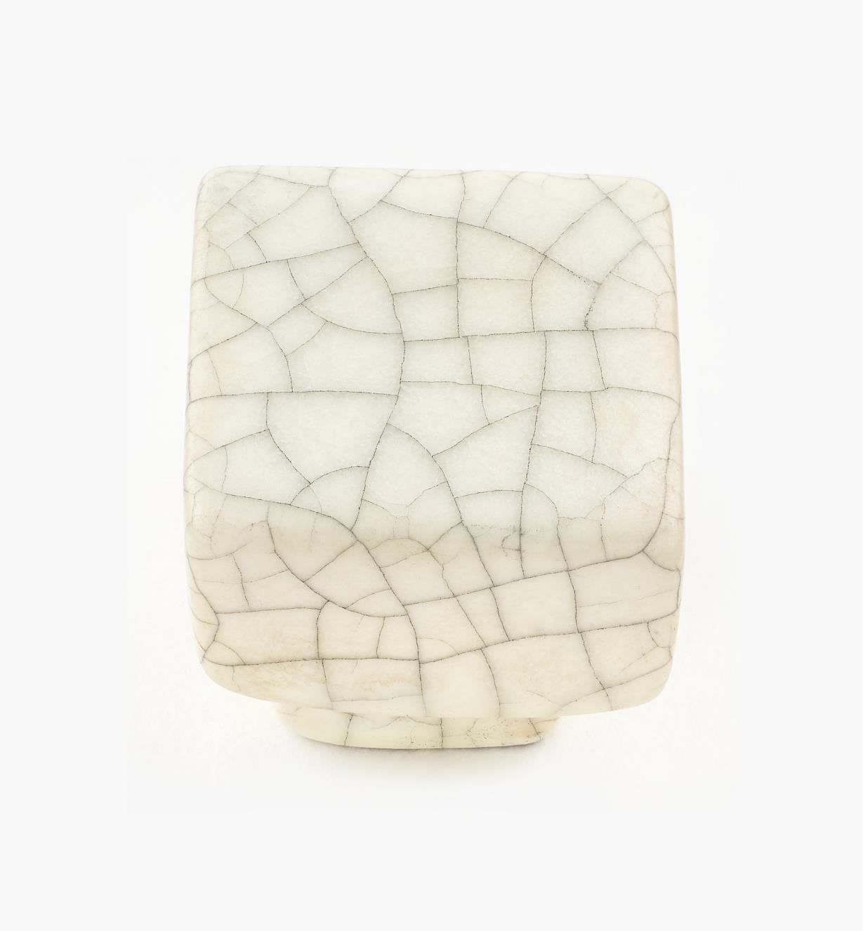 01W0550 - Crackle Hardware - Square Knob