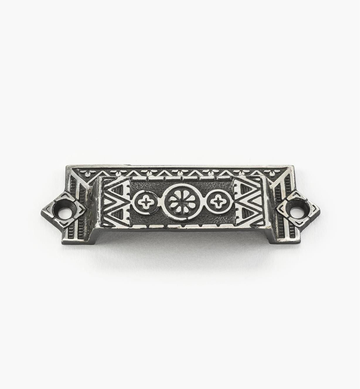 01W6025 - Poignée victorienne en acier, 4 po