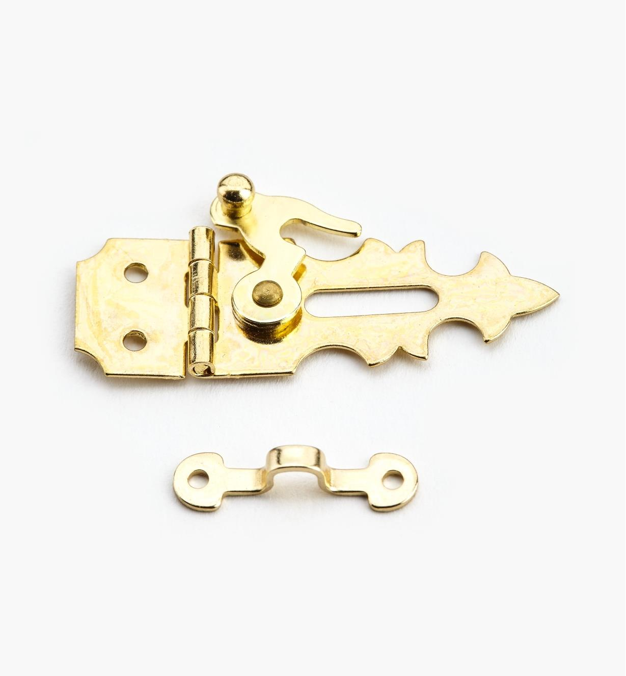 00D4210 - 16mm x 43mm Brass Plated Hasp