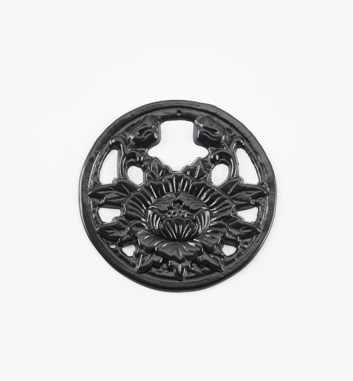 00D5660 - Platine ronde Tansu chrysanthème de 75 mm