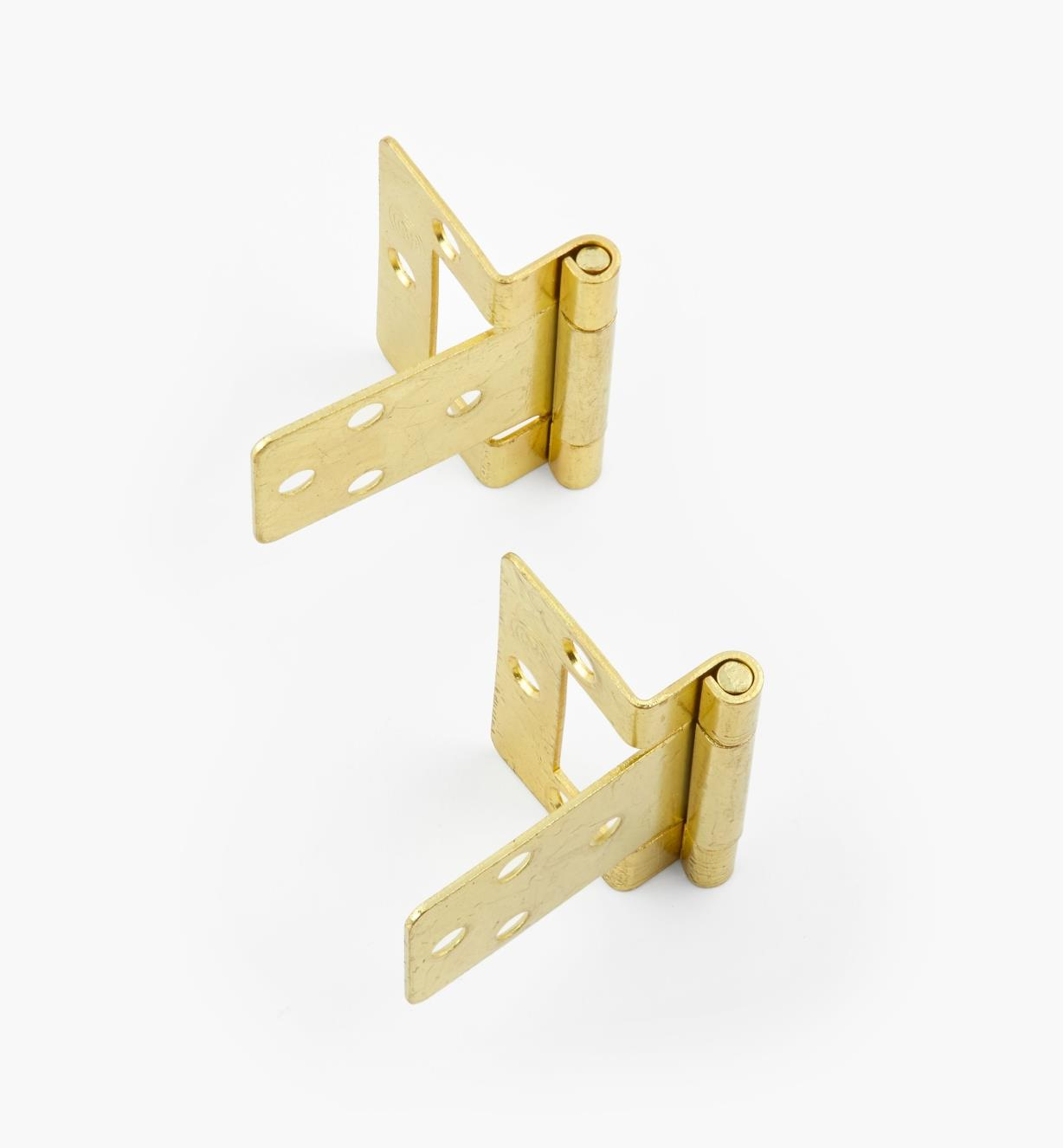 "00H5802 - 3/8"" Brass Plate Hinges, pair"