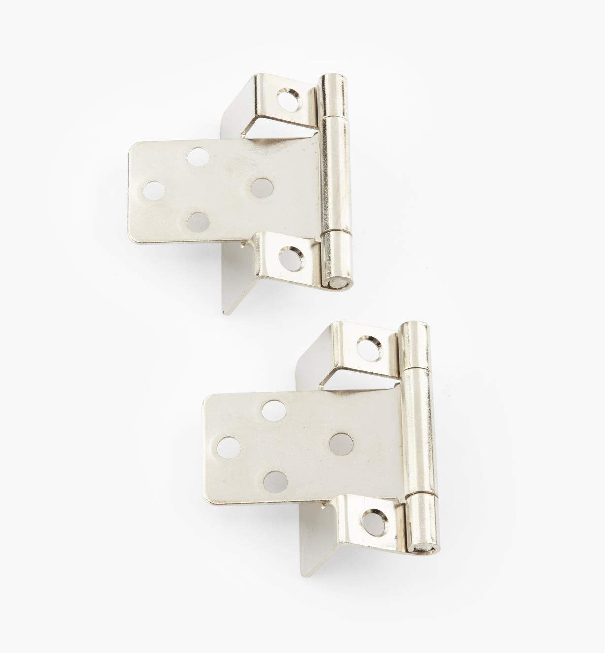 "00H5813 - 1/2"" Nickel Plate Hinges, pair"