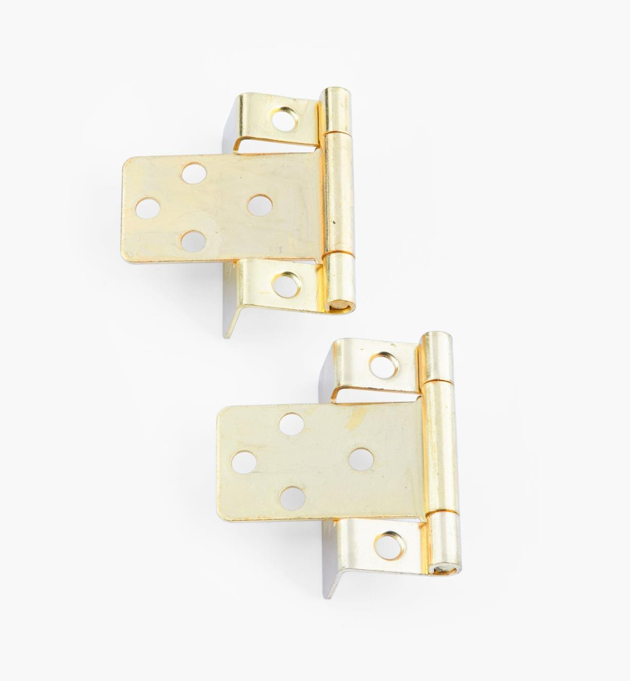 "00H5822 - 5/8"" Brass Plate Hinges, pair"