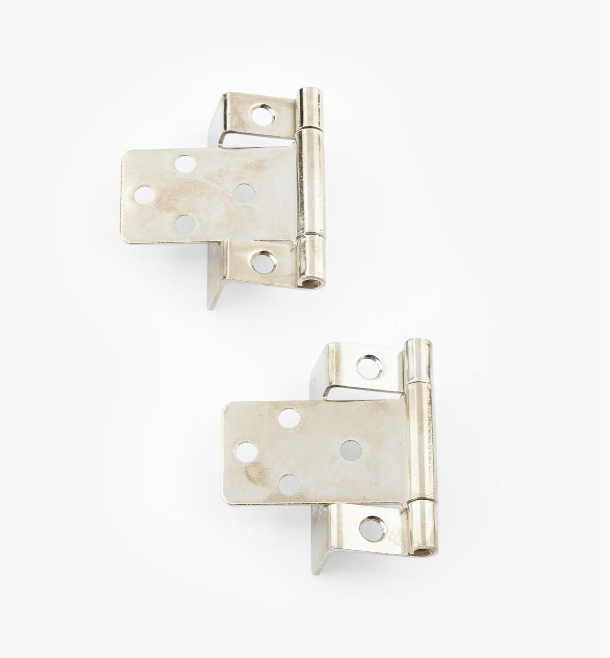 "00H5823 - 5/8"" Nickel Plate Hinges, pair"