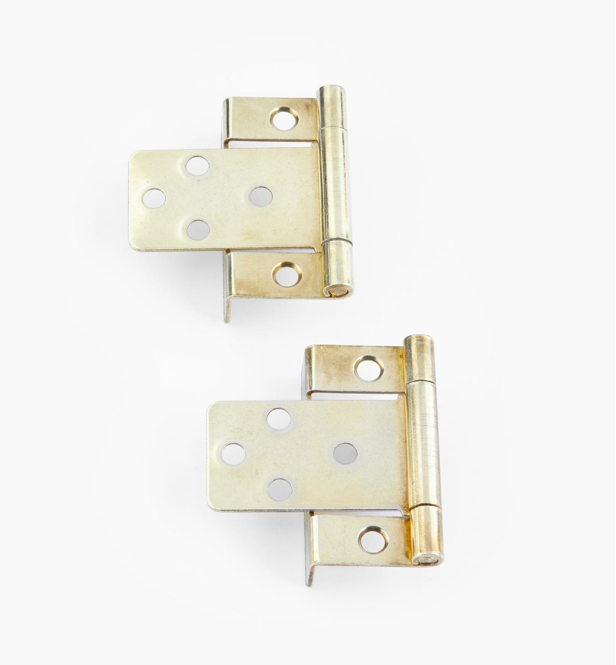 "00H5832 - 3/4"" Brass Plate Hinges, pair"