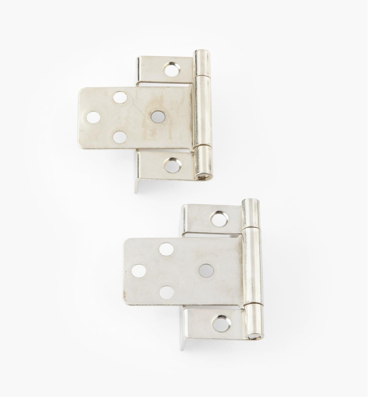 "00H5833 - 3/4"" Nickel Plate Hinges, pair"