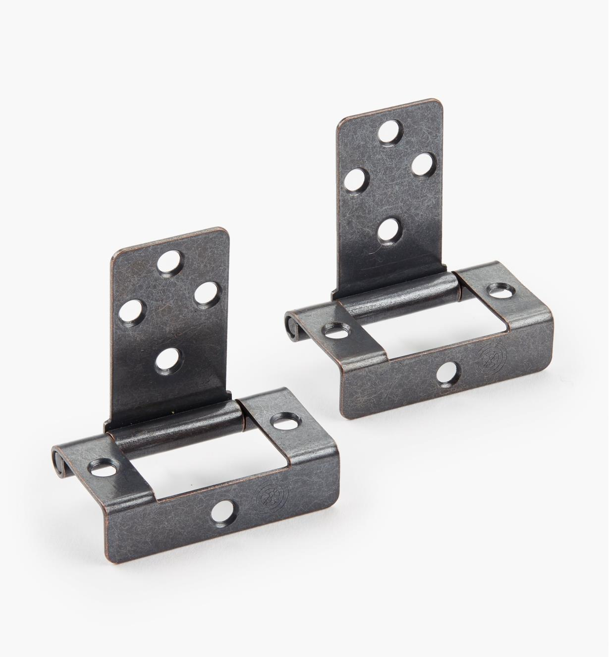 "00H6011 - 3/4"" Bronze No-Mortise Lid Hinges, pr."