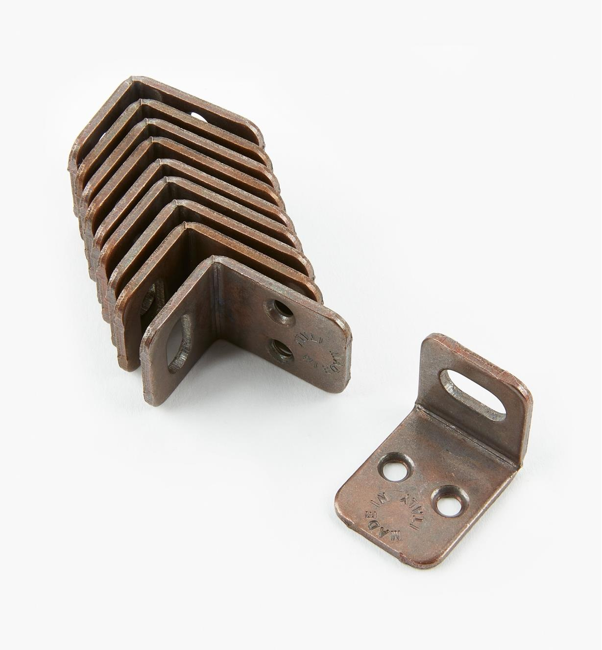 00S0410 - Bronze Corner  Braces, pkg. of 10