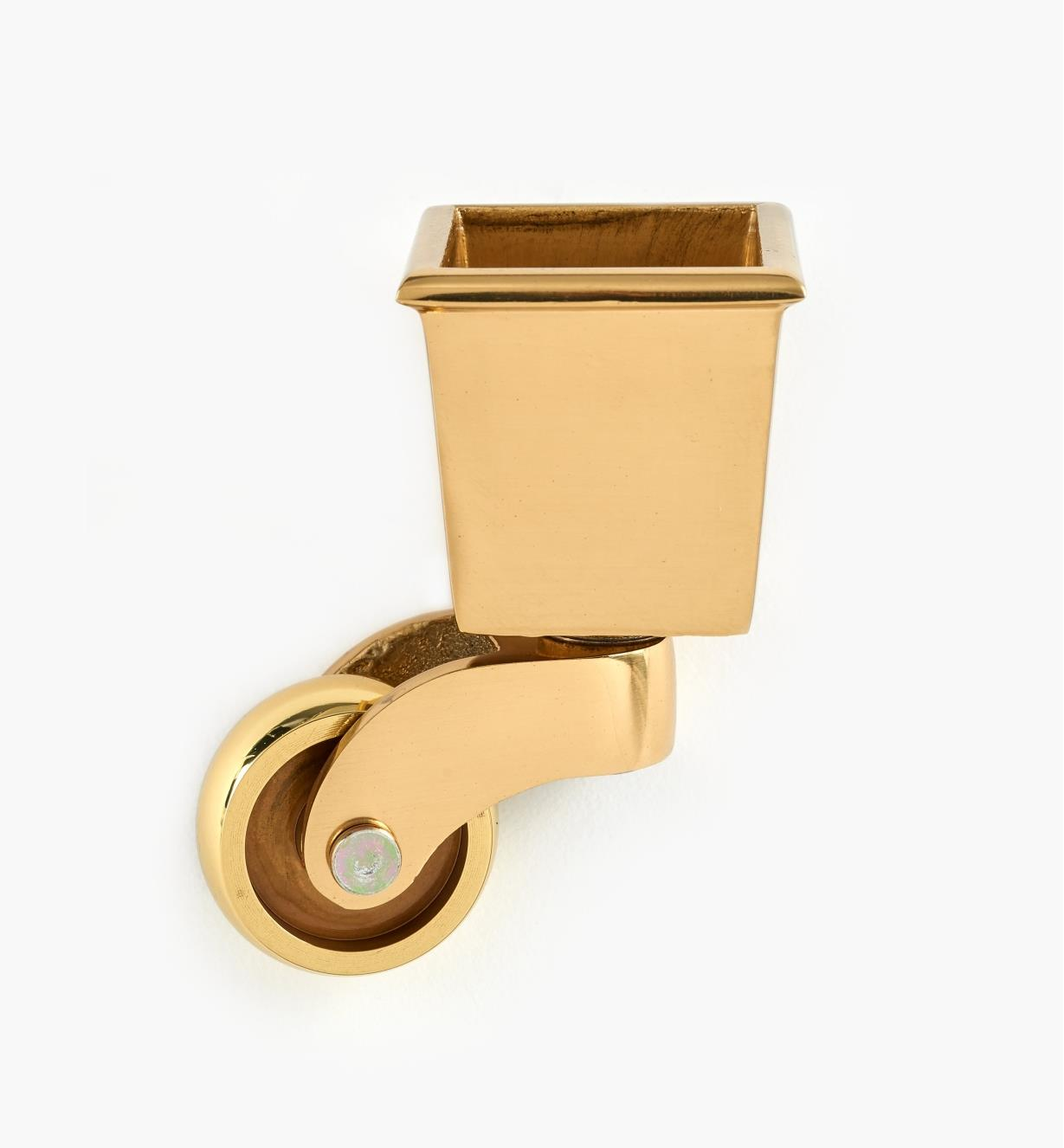 00W9870 - Polished Brass Caster, each