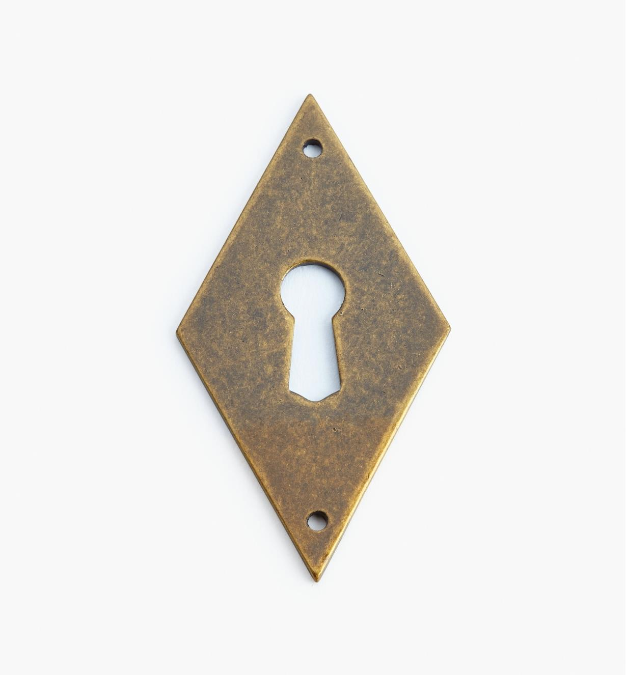 01A1960 - Lg. Vert. Antique Brass Diamond Esc.