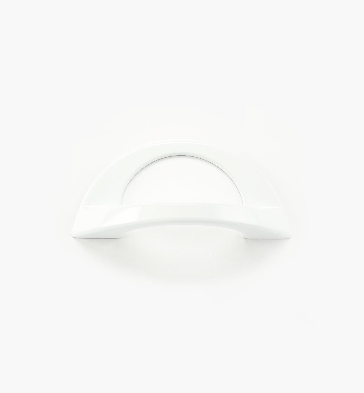 01W0861 - Poignée Polo, fini blanc, 96 mm × 40 mm