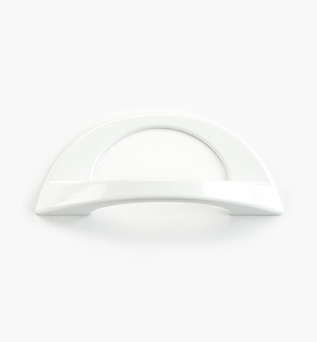 01W0862 - Poignée Polo, fini blanc, 128 mm × 43 mm