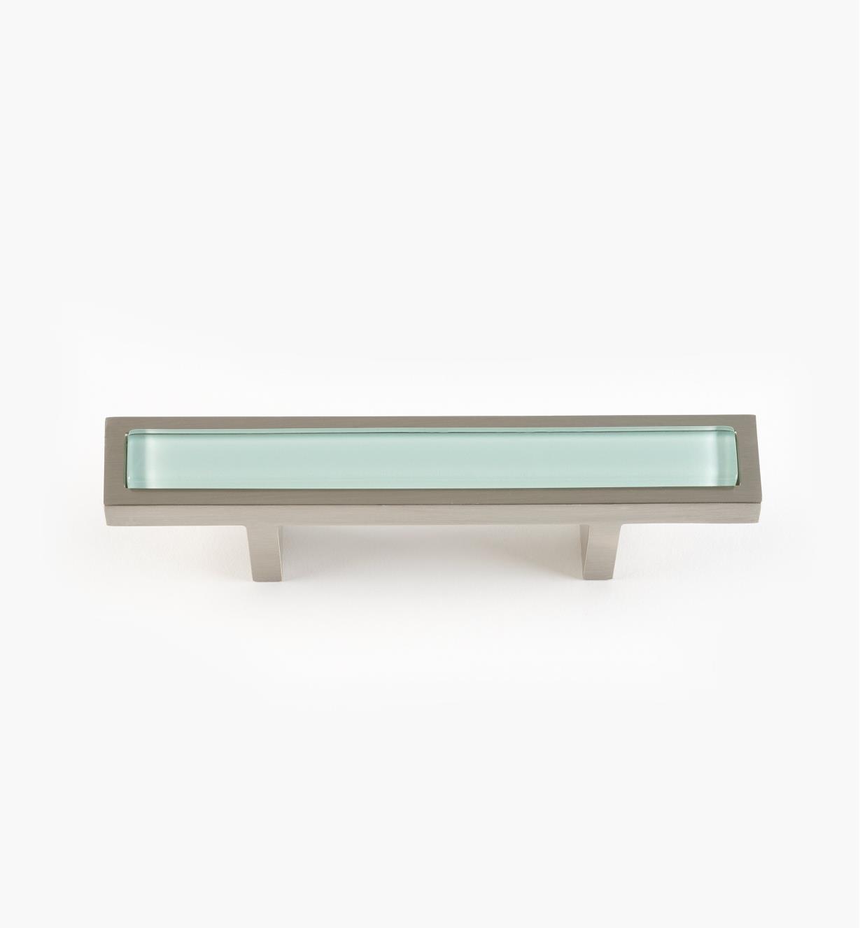 01W5133 - Poignée Spa, turquoise, fini nickel brossé, 5 3/4 po