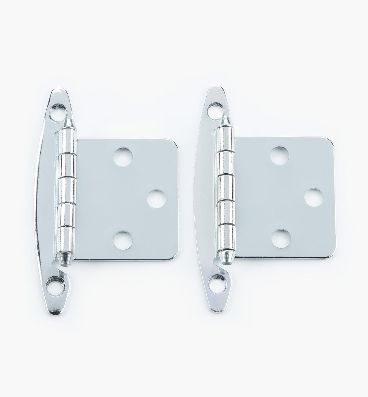 02H1302 - Charnières à plat, plaquéchrome, lapaire