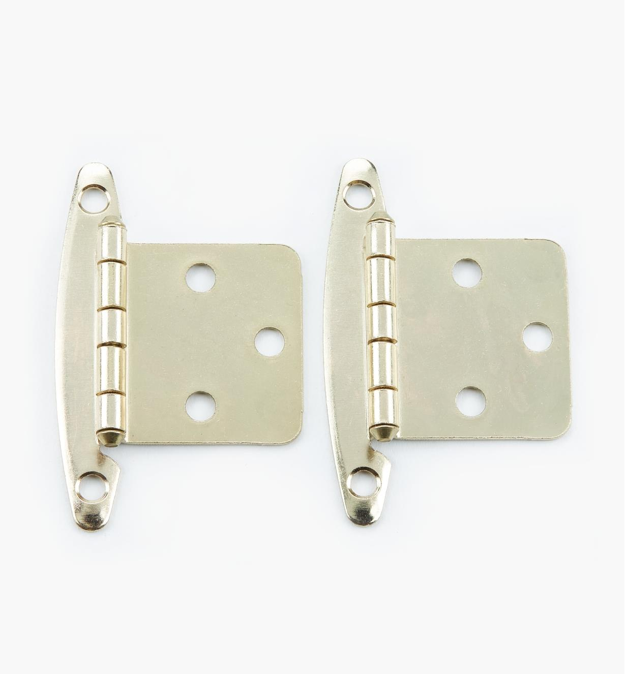 02H1303 - Brass Plate Flush Hinge, pair