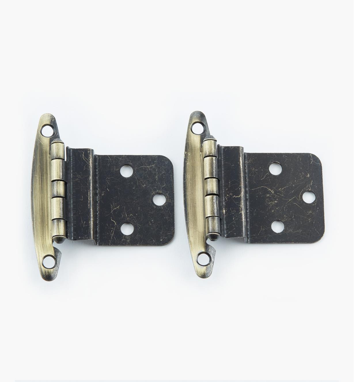 "02H1311 - 3/8"" Antique Brass Offset Hinge, pair"