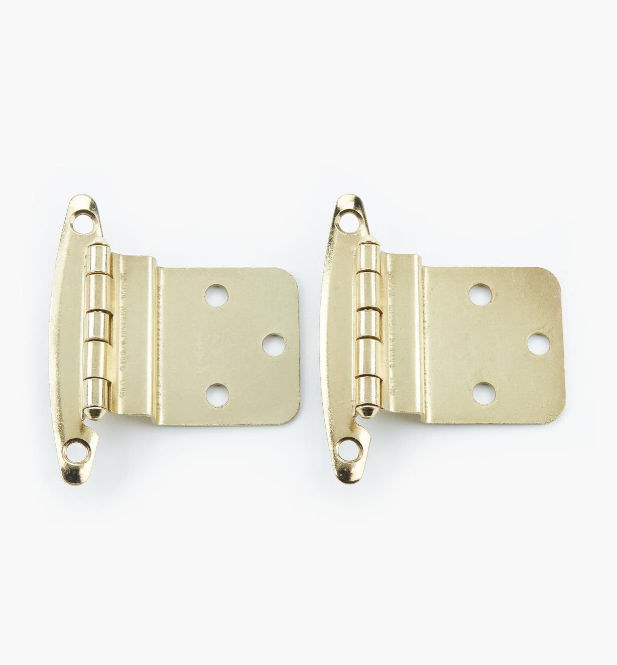 "02H1313 - 3/8"" Brass Plate Offset Hinge, pair"