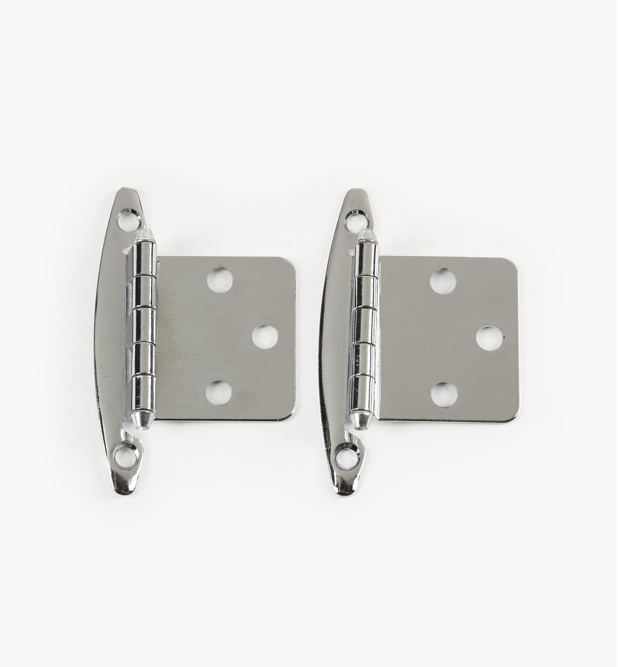 03W1219 - Belwith Standard Chrome Plate Flush Hinges, 6 pairs