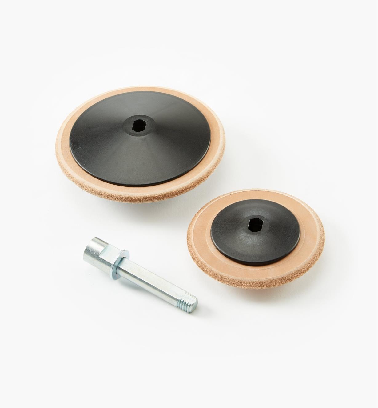 68M0143 - Ensemble de disques à morfiler profilés en cuir Tormek
